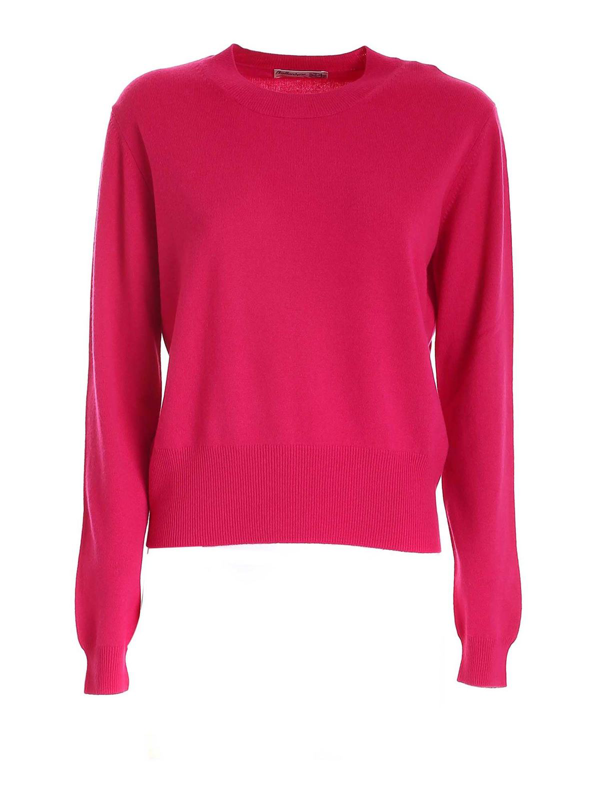 Ballantyne Cashmere Sweater In Fuxia In Fuchsia