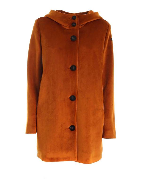 Rrd Roberto Ricci Designs Neo Velvet Lady Coat In Orange