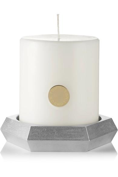 Tom Dixon Alloy Pillar Scented Candle In Colorless