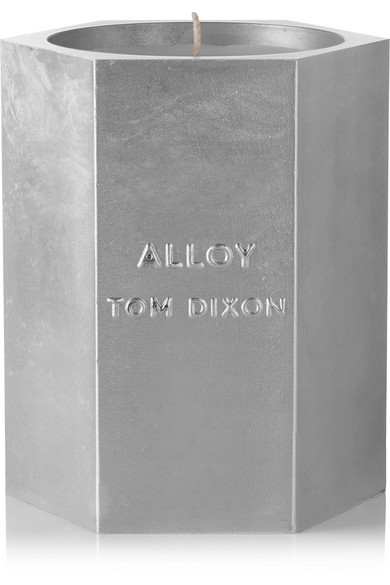 Tom Dixon Alloy Medium Scented Candle In Silver