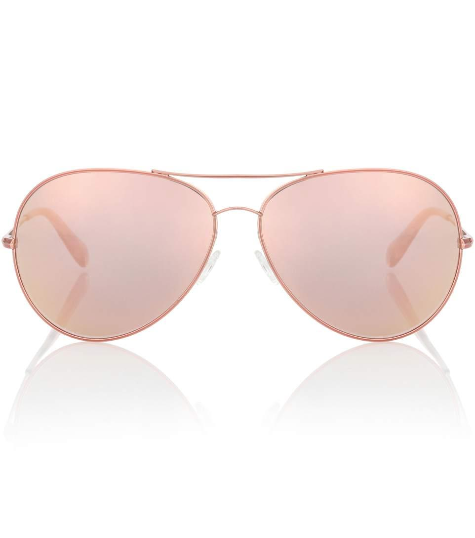 17d4c6750 Oliver Peoples Sayer 63 Mirrored Aviator Sunglasses In Metallic ...