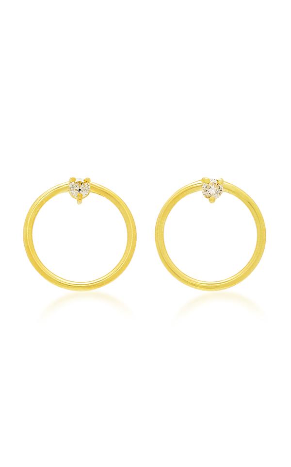 Ila Remi 14k Gold Diamond Earrings
