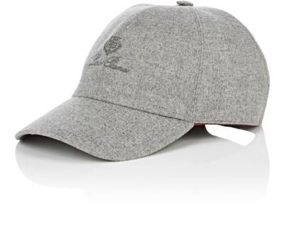 Loro Piana Storm System Cashmere Baseball Hat In Gray