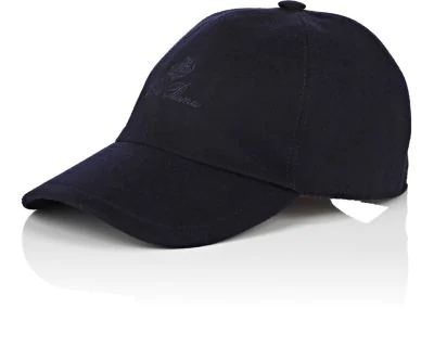 Loro Piana Storm System Cashmere Baseball Hat In Navy