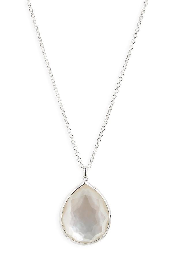 21f27fc8b6aeb5 Ippolita Sterling Silver Wonderland Large Teardrop Pendant Necklace In  Mother-Of-Pearl, 16