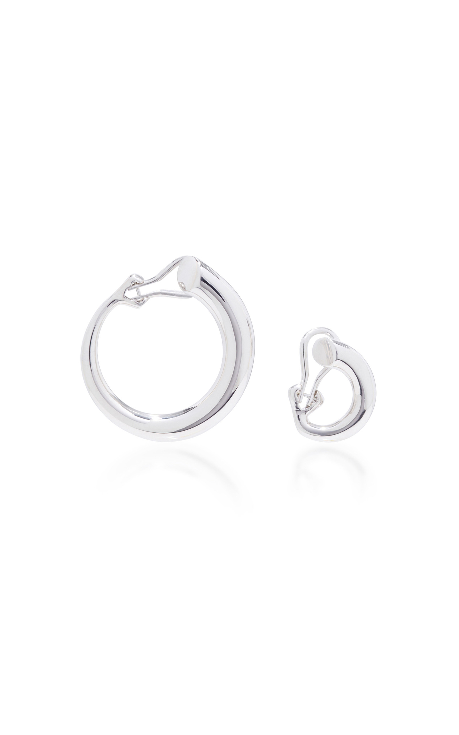 00c4130d7 Charlotte Chesnais Monie Small And Large Silver Clip Earrings In Metallic