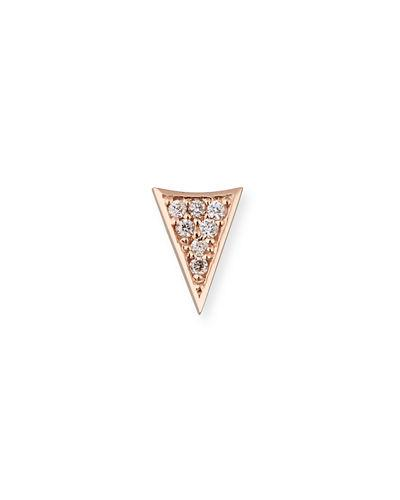 e31843782 Sydney Evan 14K Gold Triangle Stud Earring With Diamonds In Rose Gold