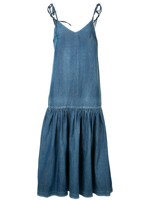 Co Woman Denim Midi Dress Blue