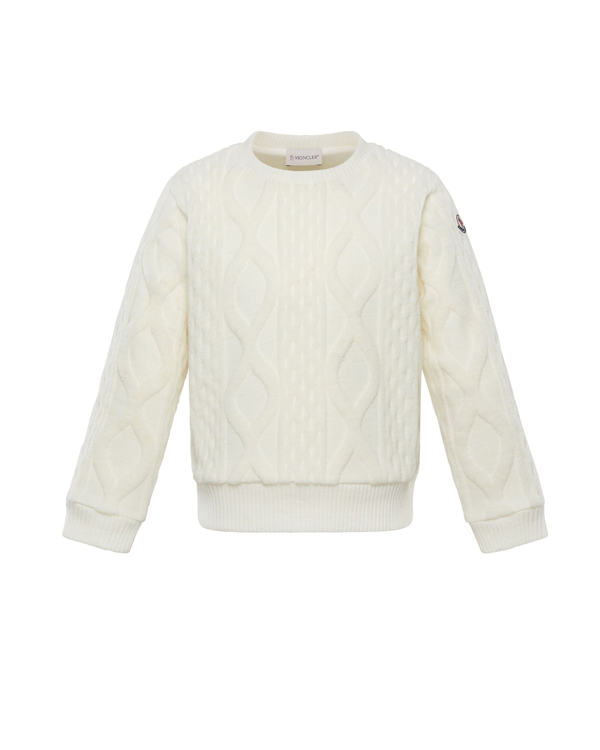 Moncler Kids' Girl's Rib Knit Sweater In Natural