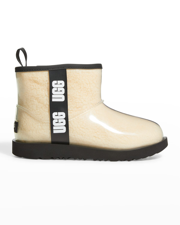 Ugg Girl's Classic Mini Logo See-through Waterproof Boots, Toddler/kids In Nblc