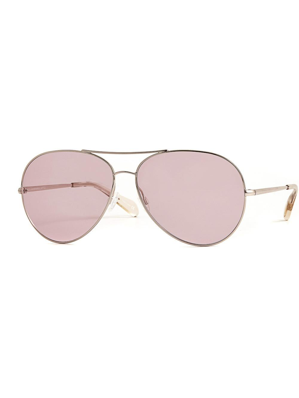 d6eafc79f Oliver Peoples Sayer Aviator Sunglasses In Metallics,Pink   ModeSens