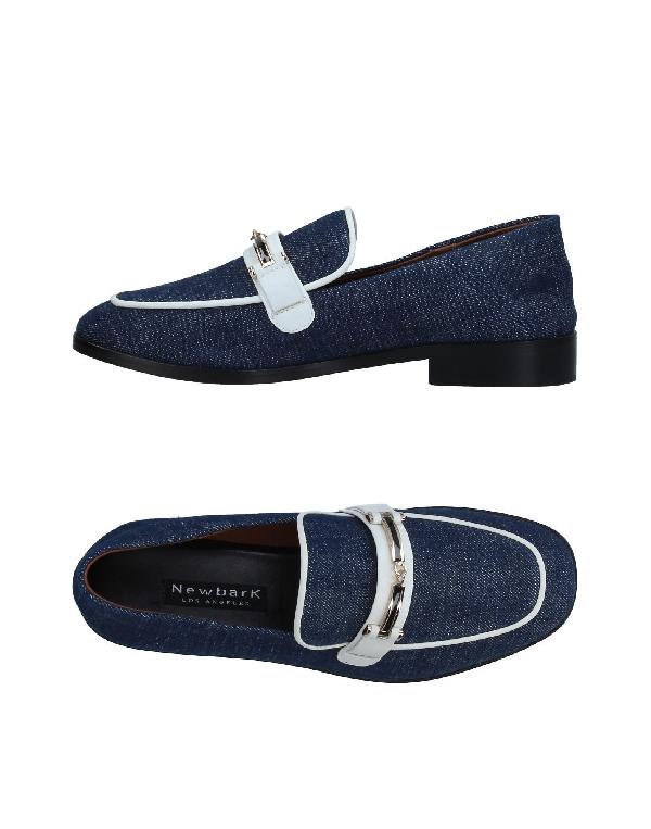 Newbark Woman Melanie Leather-trimmed Denim Loafers Dark Denim In Blue