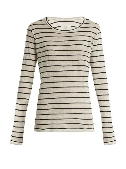 c99359b071b Etoile Isabel Marant Off-White Long Sleeve Striped Aaron T-Shirt In Cream  Stripe