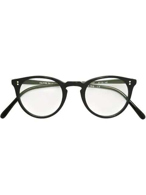 Oliver Peoples 'o'malley' Glasses In 1005 Black