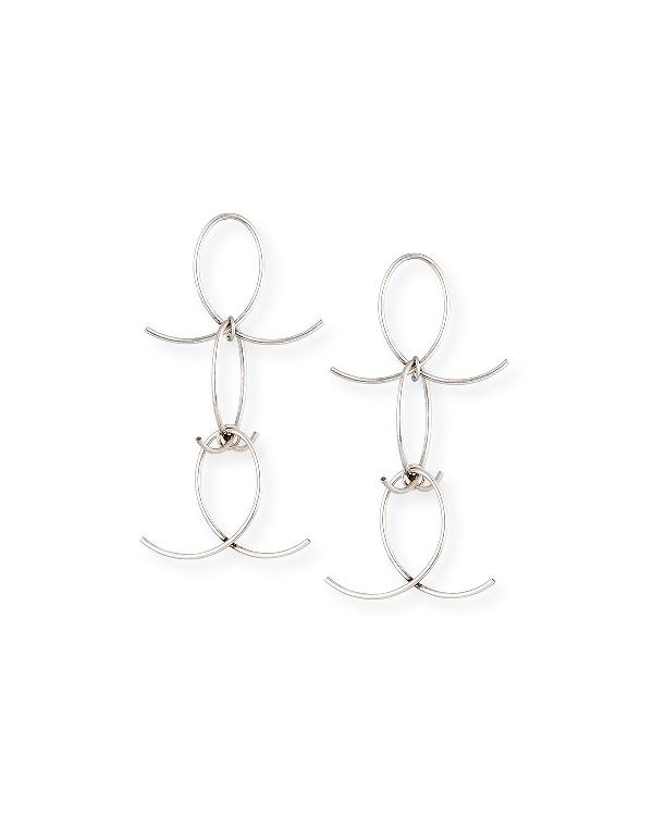 Dannijo Alastair Statement Earrings In Silver