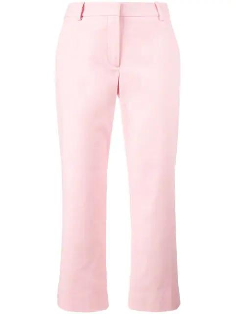 Sies Marjan Sidney Cropped Wide-leg Cotton Cargo Trousers In Pink