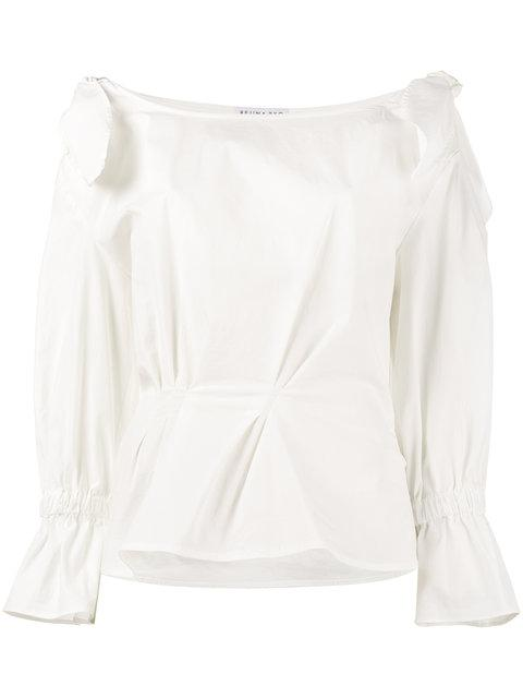 Rejina Pyo Michelle Off Shoulder Blouse In White