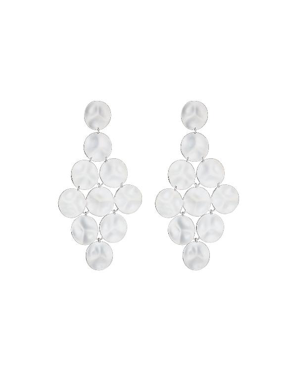 Ippolita 925 Classico Long Wavy Circle Cascade Earrings In Silver