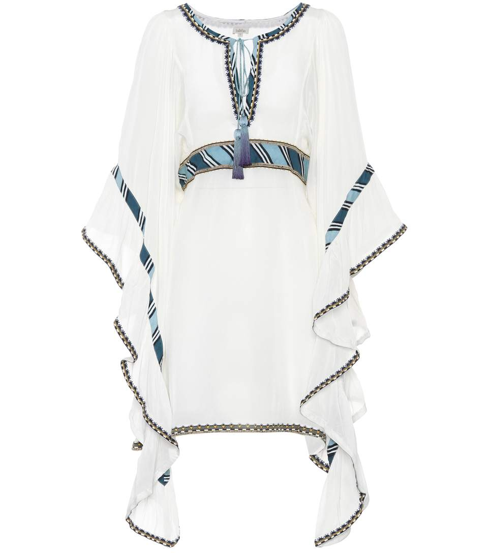 Talitha Embroidered Dress In White