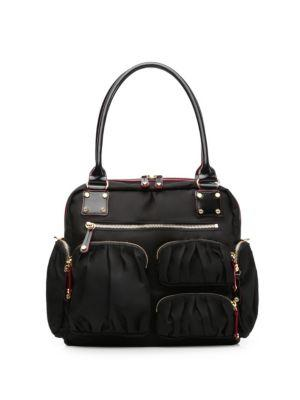 Mz Wallace Frankie Travel Bag In Black Bedford