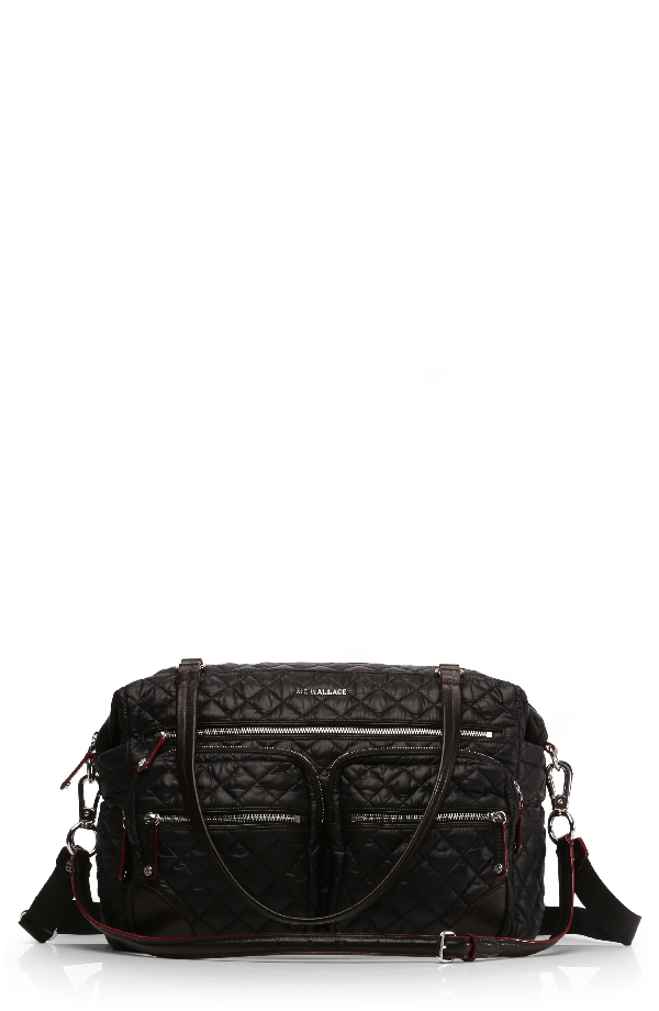 Mz Wallace Crosby Quilted Traveler Bag - Black