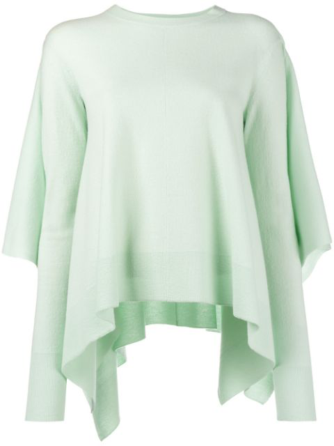 Sies Marjan Marnie Cape-back Wool Sweater In Green