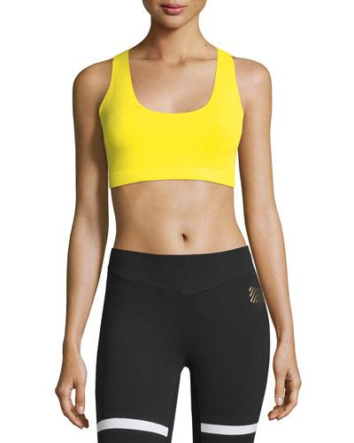 Monreal London Essential Sports Performance Bra W/o Cups In Citron