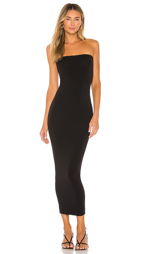 Wolford Fatal Strapless Stretch-jersey Maxi Dress In 7005 Black