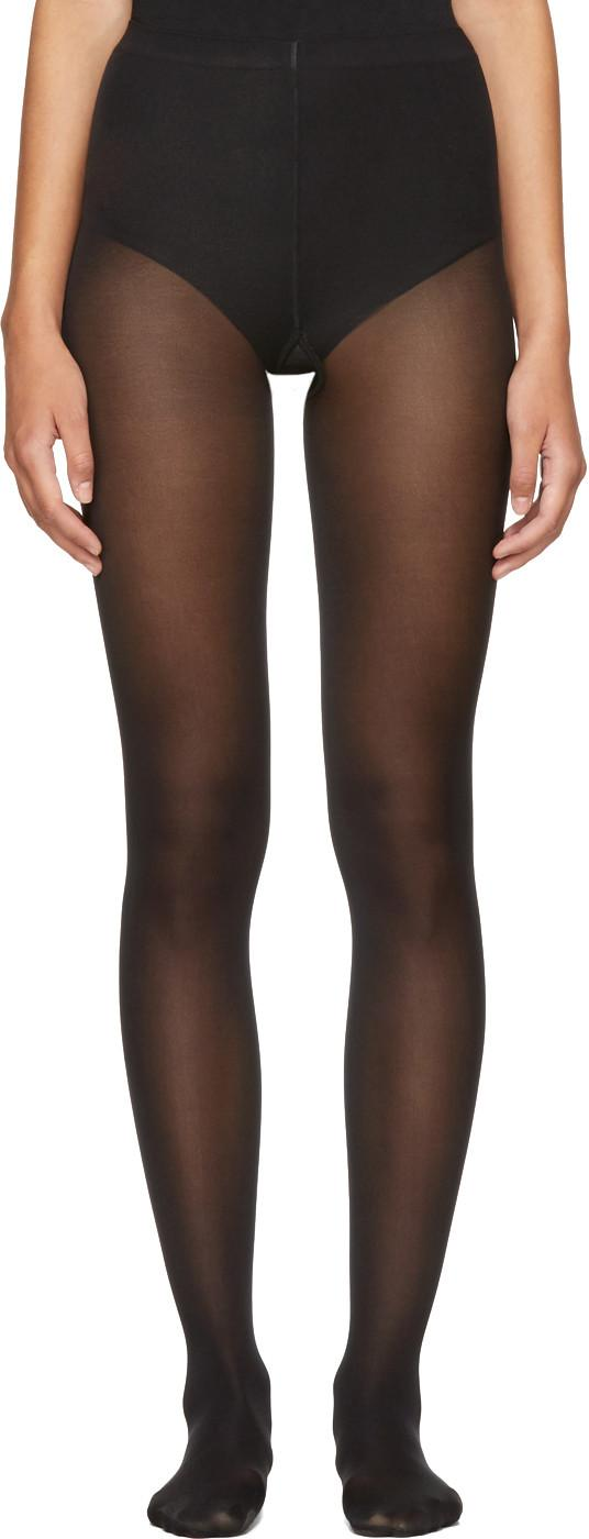 Wolford Black Velvet De Luxe 50 Tights In 7005 Black
