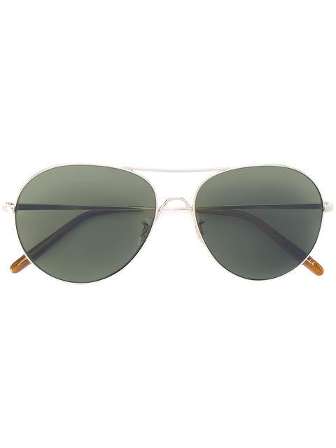 Oliver Peoples Rockmore Aviator Sunglasses - Green