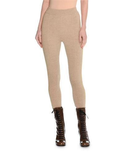 Tomas Maier Trompe L'oeil Felted Wool Cropped Track Pants In Beige