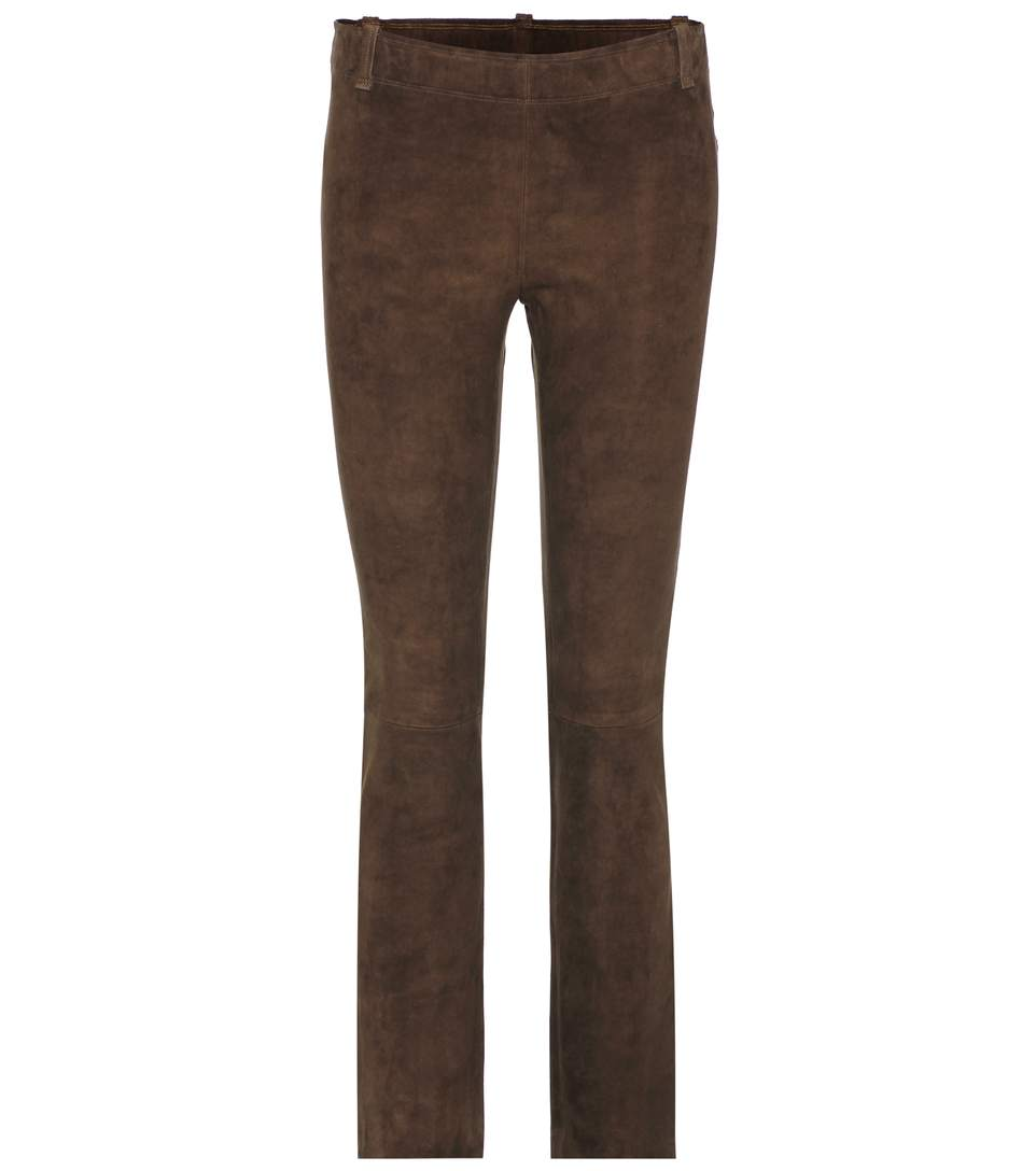 Stouls Jagger Suede Trousers In Brown