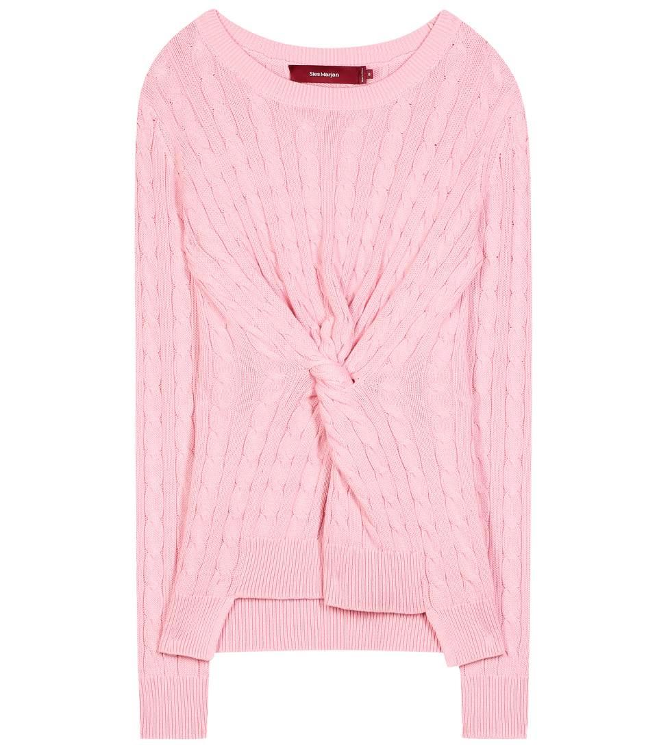 Sies Marjan Zoe-twist Cotton Sweater In Pekpe