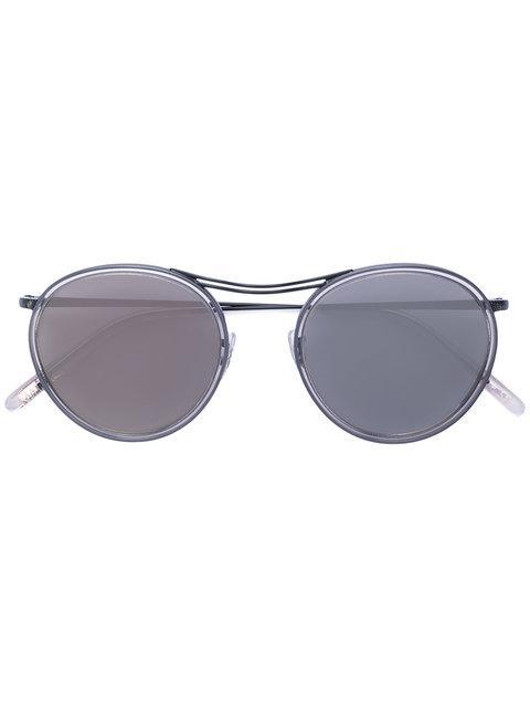 Oliver Peoples Mp-3 Round Frame Sunglasses - Black