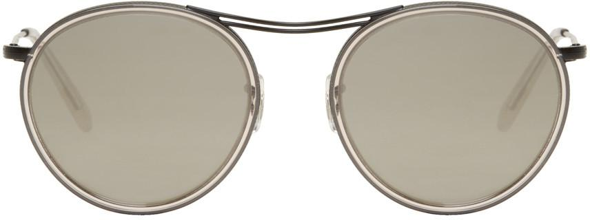 Oliver Peoples Black & Grey Mp-3 30th Sunglasses