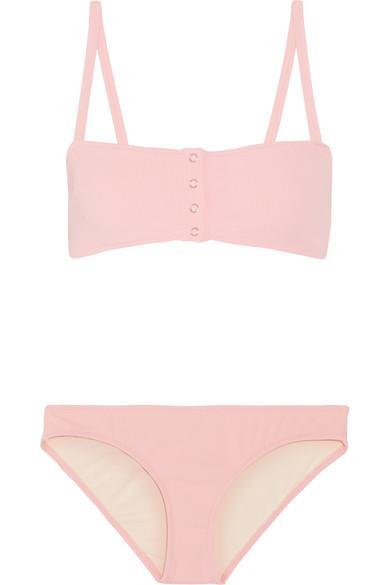 Solid & Striped + Staud Alice Ribbed Bikini
