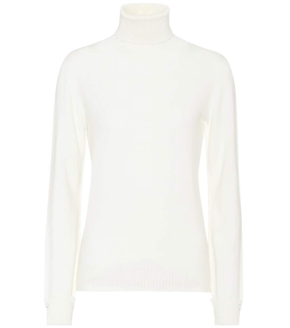 Agnona Cashmere Turtleneck In White