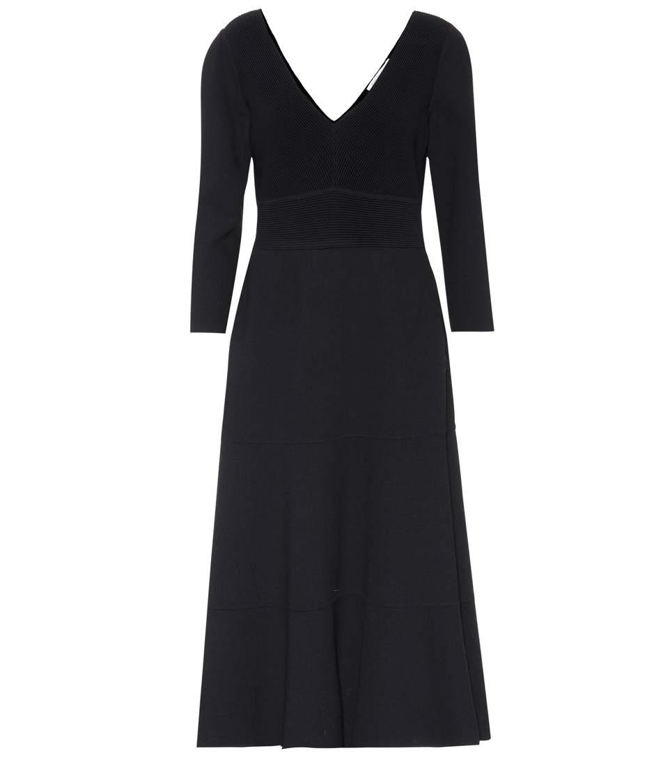 Agnona Stretch-wool Dress In Eero