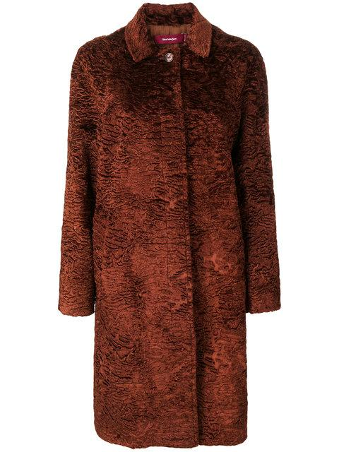 Sies Marjan Ripley Faux Fur Coat In Brown