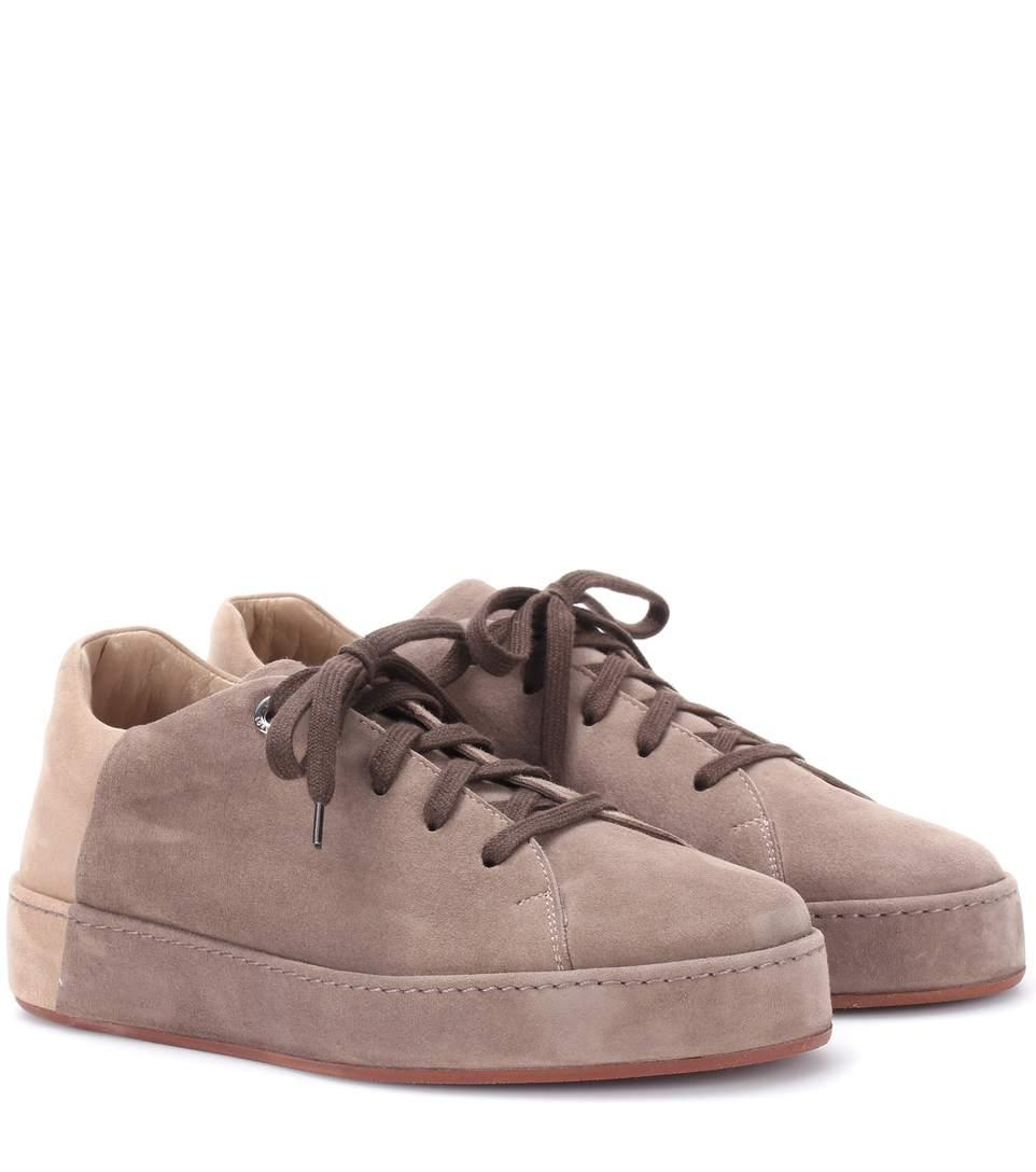 Loro Piana Nuages Suede Sneakers In Neutrals