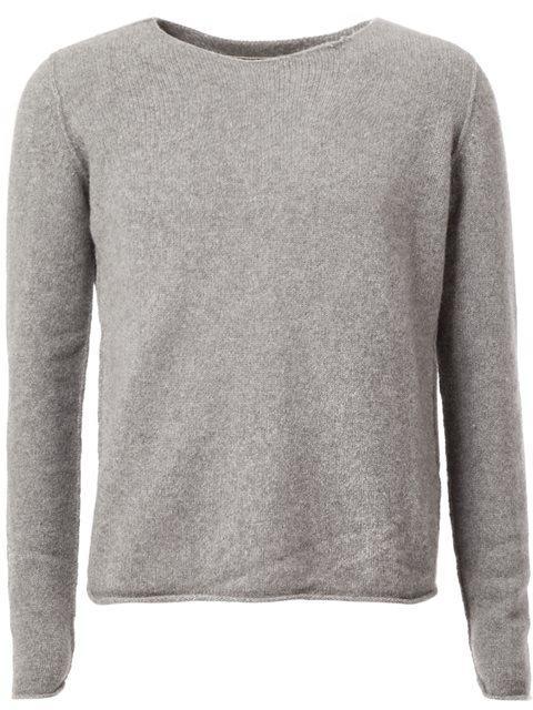 The Elder Statesman Raw Round Neckline Sweater - Grey