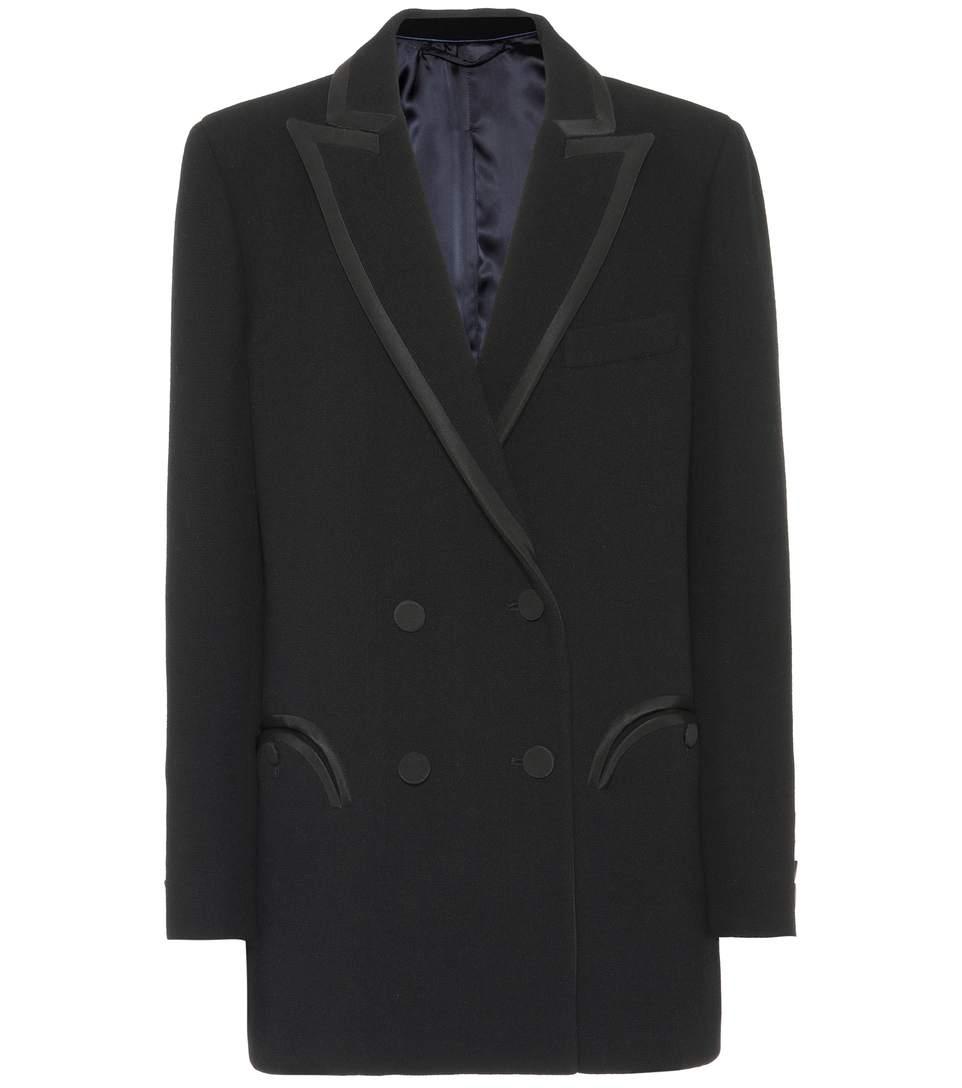 BlazÉ Milano Everyday Wool CrÊpe Blazer In Black