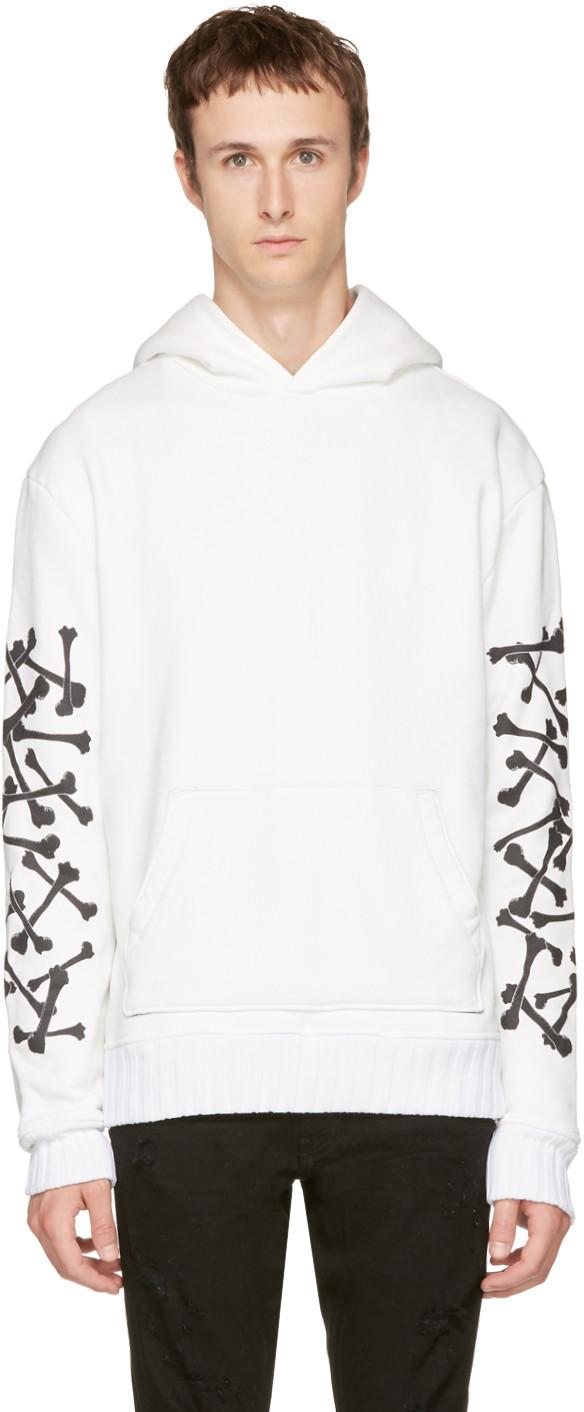 Amiri Lovers Printed Loopback Cotton-jersey Hoodie In 117wht White