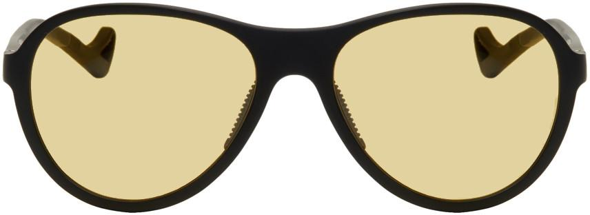 District Vision Black And Yellow Kaishiro Sunglasses In District Sp