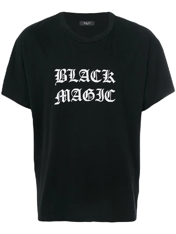 Amiri Black Magic-Print Cotton T-Shirt