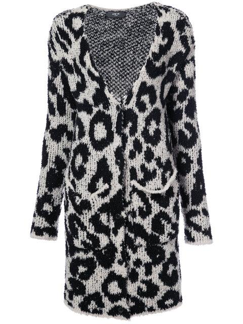 Amiri Snow Leopard Cardi In Grey