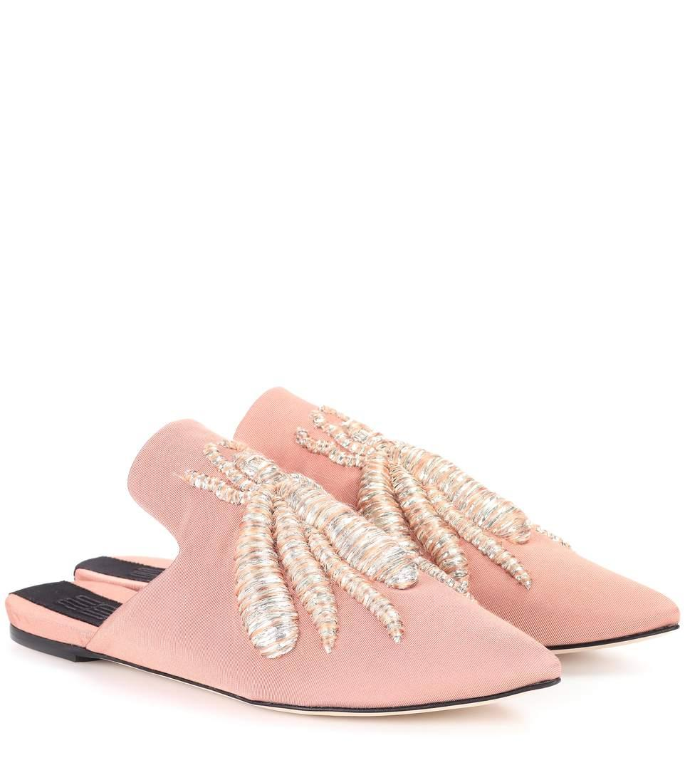 Sanayi313 Exclusive To Mytheresa.com – Ragno Slippers In Careeliae & Silver