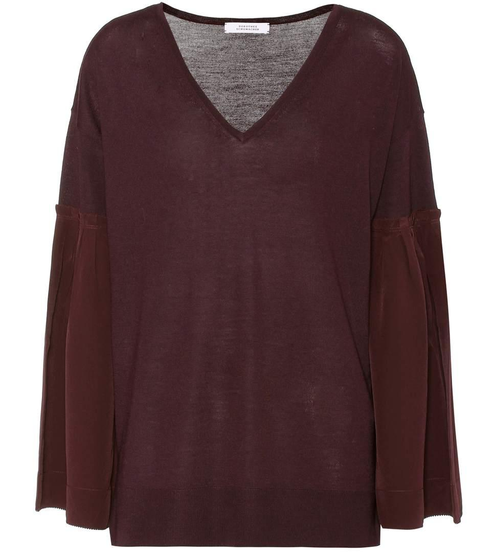 Dorothee Schumacher Love Wool Sweater In Purple