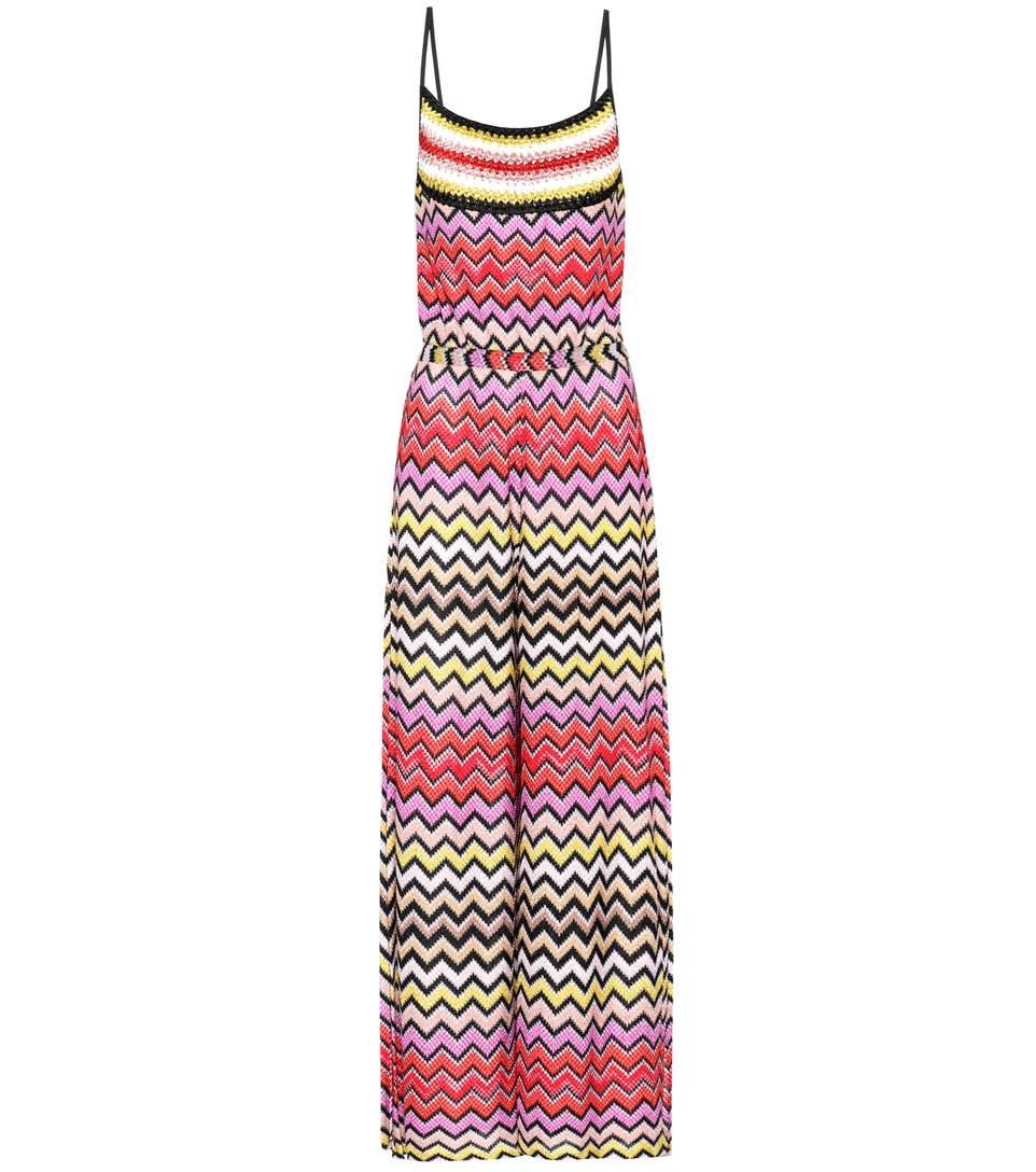 Missoni Knitted Jumpsuit In Multicoloured