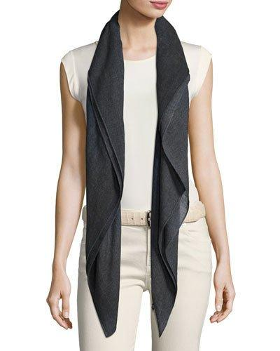 Loro Piana Color Field Cashmere Scarf In Forest